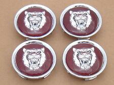 NEW Jaguar Wheel Badges Red Silver Set Of 4 MNA6249EA