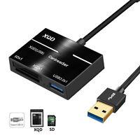 Camera XQD SD Memory Card Reader USB 3.0 Hub Adapter For Sony/Nikon/Canon/Lexar