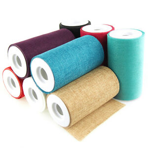 Faux Burlap Rolls Frayed Edge, 6-Inch, 10 Yards
