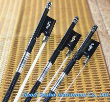 10 pcs PRO New light carbon fiber 4/4 violin bow nickel silver parts white hair