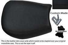 BLACK STITCH CUSTOM FITS TRIUMPH SPEED TRIPLE 955 i 97-01 FRONT LTHR SEAT COVER