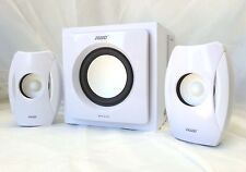 SPEED SPS-2103 2.1 Speaker Systems 34W RMS for Desktop PC, iPad, iPhone - White
