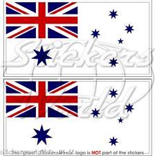 "AUSTRALIA Bandiera Australiana Marina Militare RAN Adesivi 75mm(3"") Stickers x2"