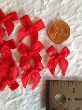 10 Bows Red Satin Bow Christmas Valentines Anniversary scrapbooking invitations