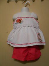 Kids Headquarters Girls Embellished Short Outfit White 4/4T + Sunglasses NWT
