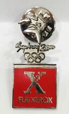 RED FUJI XEROX LOGO SYDNEY OLYMPIC GAMES 2000 PIN BADGE COLLECT #719
