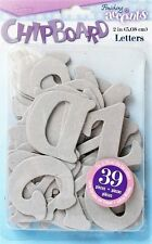 CHIPBOARD Letters ALPHABET Raw 2 inch  39 pieces Mixed Media Home Decor