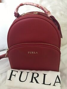 Authentic Furla Frida Backpack In Red with Furla Twilly