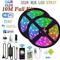 10M WIFI LED Strip Light RGB 3528 Smart App for Alexa Google Home Wedding Decor