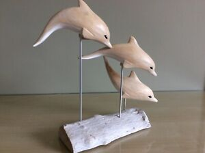 Archipelago hand crafted 'Leaping dolphin' block 21cm excellent condition