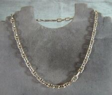 """16"""" Sterling Silver Mariner Link Chain Necklace Italy 24 gram 5.5 mm chunky link"""