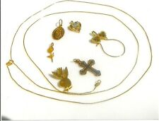 solid gold necklace and six solid gold penden  BIRTHDAY SPECIAL