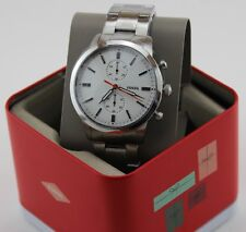 NEW AUTHENTIC FOSSIL TOWNSMAN CHRONOGRAPH SILVER WHITE MEN'S FS5346 WATCH