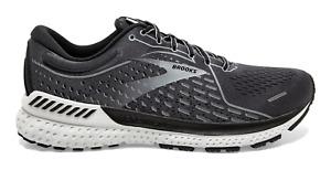Men Brooks Adrenaline GTS 21 Running Shoes Grey Black Sizes 8-14 FREE SHIPPING