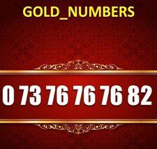 GOLD MOBILE PHONE NUMBER MEMORABLE GOLDEN EASY VIP 07376767682