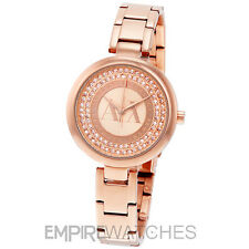 *NEW* LADIES ARMANI EXCHANGE JULIETTA ROSE GOLD WATCH - AX4222 - RRP £175.00