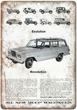 """Kaiser Jeep Corporation Wagoneer Revolution 10"""" x 7"""" Reproduction Metal Sign A92"""