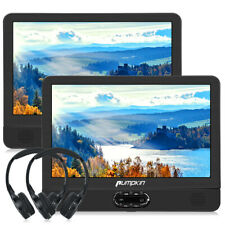 12 Inch Dual Screen Car Headrest DVD Player 1080P Video AV in Out USB+Headphones