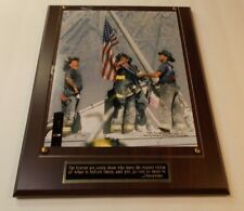 Firefighter 911 Firemen Sept. 11 LICENSED Photo Plaque Gift Box Ships 2 Day Mail