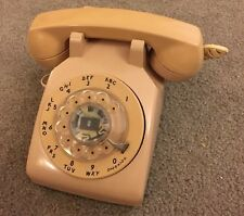 Vintage Light Pink Beige Rotary Phone Telephone Western Electric Bell Systems