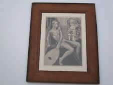 ANTIQUE VINTAGE AFRICAN AMERICAN PORTRAIT BY KEENE TRIBAL SCULPTURE DRAWING MOD