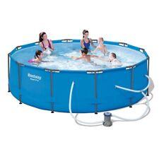 Luxury Pool:Bestway Steel Pro Frame Swimming Pool + Pump 12ft Diameter 30in Deep
