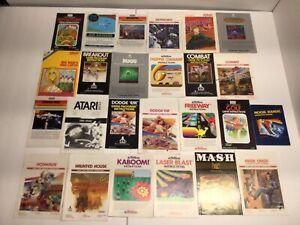 Vintage Atari 2600  Manuals  * Your Choice *    No Games  CHECK LIST