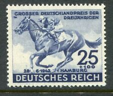 GERMANY 1942 BLUE RIBBON RACE HORSE MNH Stamp