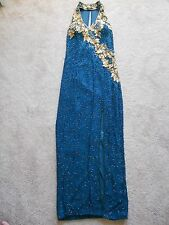 Pre Owned Green Bead and sequin - Prom / Wedd ing / Bridesmaid / Formal Gown