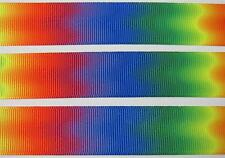 "BB Ribbon BRIGHT RAINBOW OMBRE 1m grosgrain 7/8"" doublesided hair bows"