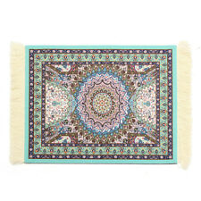 Cool 28x18cm Persian Style Mini Woven Rug Mouse Pad Carpet Mousemat With Fringe