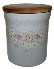 Denby Pottery Finest Handcrafted Stoneware Reflections Floral Large Storage Jar
