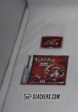 Pokemon RUBY Version (Game Boy Advance) Rare CART in CASE + MANUAL Authentic RPG