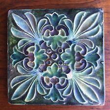 Antique Rare CHARLES VOLKMAR TILE ALHAMBRA Union Square NY  - Arts + Crafts