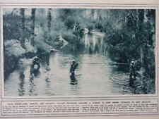 1916 ITALIAN ENGINEERS CARRYING MINING-TUBE, SHIELDS & HELMETS, ISONZO WWI WW1