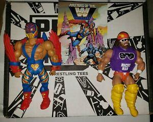 WWE Masters of the Universe Macho Man Randy Savage Rey Mysterio MOTU Wave 2