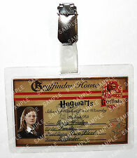 Ginny Weasley ID Badge Harry Potter Hogwarts Student Cosplay Prop Comic Con