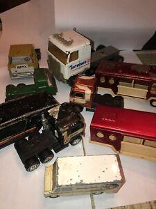 Vintage Buddy L (USA) Pressed Steel  Marx Tonka Truck Flat Cab Lot 11 Die Cast