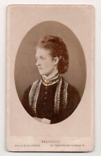 Vintage CDV Queen Alexandra of Great Britain Hills & Saunders Photo