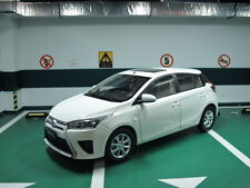 Toyota vios yaris L 1/18 model car white free shipping