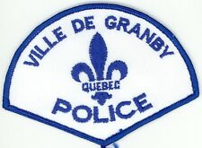 Ville de Granby Police, Quebec, Canada HTF Vintage Uniform/Shoulder Patch