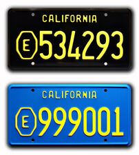 ADAM-12 | E534293 + E999001 | Metal Stamped Replica Prop License Plate Combo