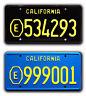 ADAM-12 | E534293 + E999001 | Metal Stamped Replica Prop License Plate Combo