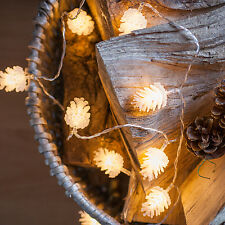 Christmas Pinecone Battery Operated 10 Warm White LED Indoor Fairy String Lights
