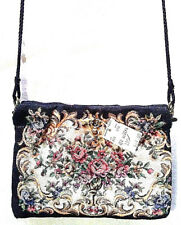 MARSHALL FIELDS Small Floral Print Felt Cloth Purse Evening Bag   NEW       A092