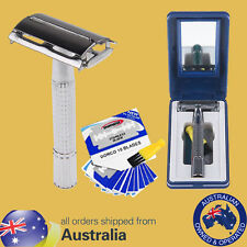 Classic Safety Razor Double Edge Shaving Razor +10 Platinum Blades I use one mys