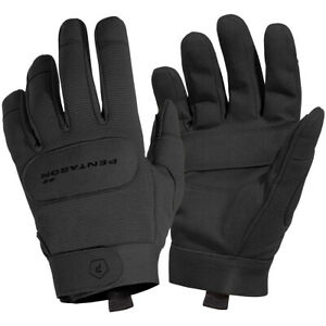Pentagon Duty Mechanic Gloves Leather Breathable Tactical Combat Gauntlet Black