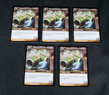 Lot of (5) World of Warcraft WoW TCG Bracers of the Green Fortress Crafting Epic