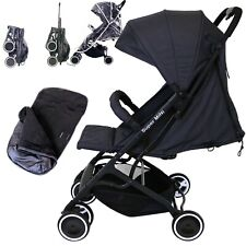 Super MiNi Small Pocket Stroller - Black (Foot-muff Included) GB Lightweight