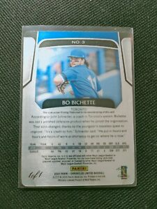 Bo Bichette 2020 Panini Chronicle Limited RC Rookie Print Plate True 1/1 Toronto